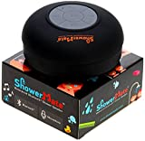 Shower-Mate Water Resistant Wireless Bluetooth Portable Speaker and Hands-Free Speakerphone Compatible with All Bluetooth iOS Devices and All Android Devices 1 YEAR US WARRANTY (Black)