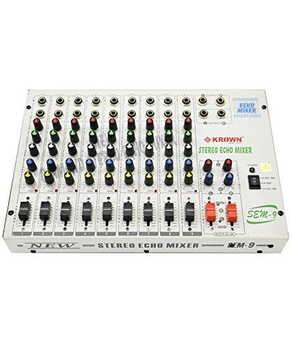 Krown 9 Channel Stereo Echo Mixer - KSEM 9