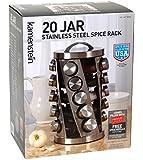 Kamenstein 20 Jar Stainless Steel Spice Rack