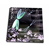 3dRose db_47986_2 Dragonflies with Glowing Wings-Memory Book, 12 by 12-Inch