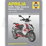 Haynes Manual Aprilia SR50, Rally, Sonic & Habana/Mojito Scooters (93-09)