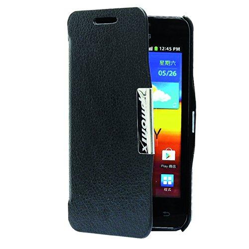 Phonix S9070BCB Custodia a Libro in Ecopelle per Samsung Galaxy S Advance i9070, Nero