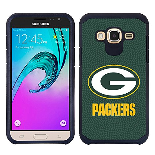 Samsung Galaxy J3 / Galaxy Amp Prime Green Bay Packers Pebble Grain Feel Multi Layer Case Green by GameWear