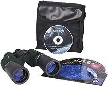 Orion 10x50 Binocular Stargazing Kit with RedBeam Mini LED Flashlight (Green)