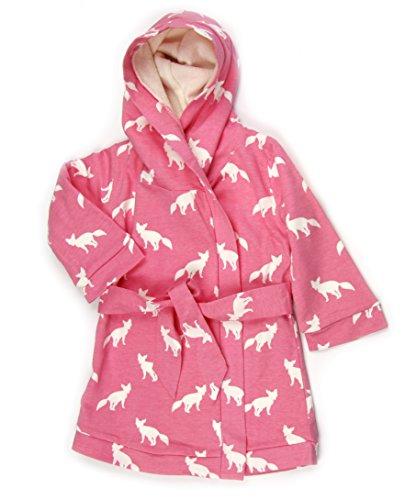 Kate Quinn Organic Unisex-baby Robe, 0-12M (Pink Fox)