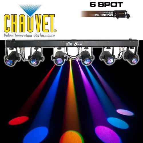 Brand New Chauvet 6Spot Portable Led Powered Color Changer System W/ Travel Bag