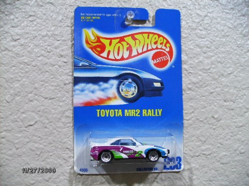 Hot Wheels Toyota Mr2 Rally 1997 -White W/purple & Green Tampo's, W/wsp's - 1