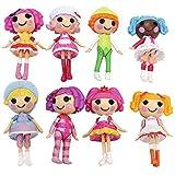 ReFaXi® 8x Mini Lalaloopsy Dolls Children Kids Girls Baby Birthday Gift Play House Toys