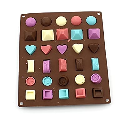 Anfimu Set of 5 Non-stick Silicone Candy Chocolate Making Molds Tray for Making Homemade Cake, Candy, Chocolate, Gummy, Ice, Crayons, Jelly, and More