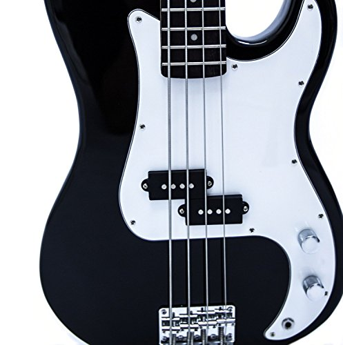Stanton Electric Bass Guitar-Bass Guitar Kit - Black On White