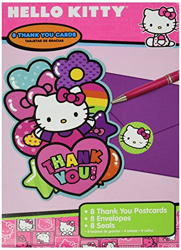 Adorable-Hello-Kitty-Rainbow-Postcard-Birthday-Party-Thank-You-Cards-8-Pack-Pink-4-14-x-6-14