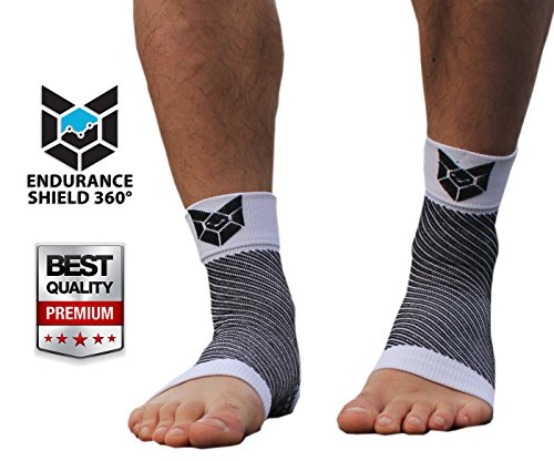 Compression Foot Sleeves (2 pcs) – Superior Support for Plantar Fasciitis, Heel Spurs, Arch Pain, Foot Pain And Discomfort. Helps Boost Circulation & Recovery – Great for Running, Hiking, & All Outdoor Activities – Endurance Shield 360® – 100% Money Back Guaranteed!