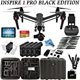 DJI Inspire 1 PRO Black Edition Bundle with Zemuse X5 4K Camera + Controller + iPad + 4 Batteries + Professional Case + 64GB Extreme MicroSD Card and more…