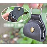 Leather plectrum holder keyring