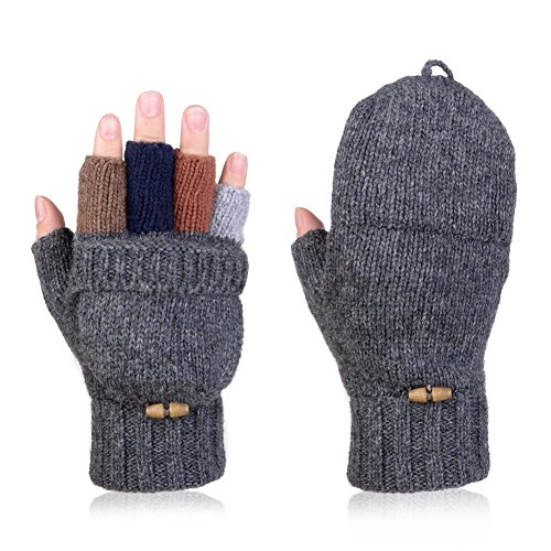 vbiger-mens-womens-winter-warm-wool-half-finger-mittens-gloves-dark-gray