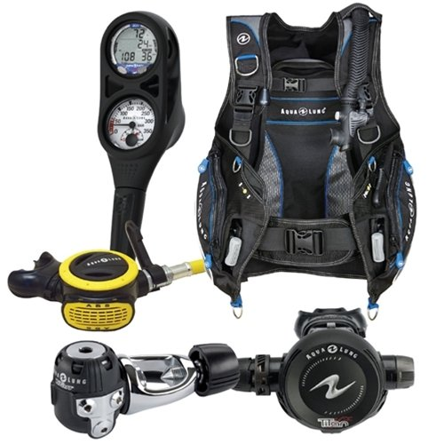Aqua Lung Essential Package Pro HD BCD Size XL Titan Regulator ABS Octo i300 Computer SPG Console Aqualung Scuba Diving