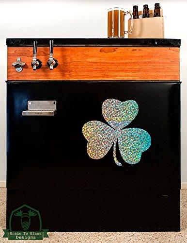 irish-lucky-shamrock16-kegerator-vinyl-decal-silver-metal-flake