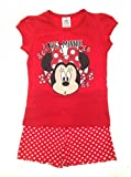 New Kids Girls Childrens Official Disney Minnie Mouse Micky Mouse Clubhouse Short Pyjamas Pj's Set Size 7-8 Years
