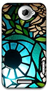The Racoon Lean Blueberry hard plastic printed back case / cover for HTC One X
