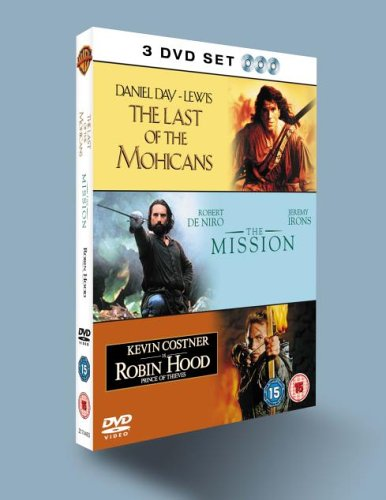 Robin Hood Prince Of Thieves / Last Of The Mohicans / The Mission [DVD]