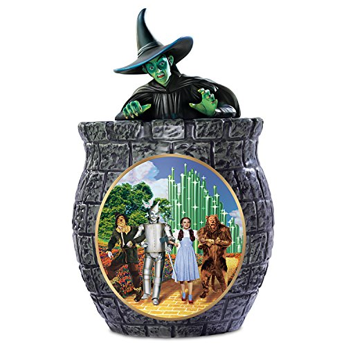 The Wizard Of Oz Cookie Jar With Wicked Witch Of The West, Dorothy, Scarecrow, Tin Man, And The Cowardly Lion by The Bradford Exchange