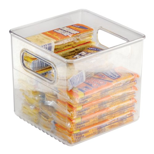 Interdesign Storage And Organization Bin, 6-Inch By 6-Inch By 6-Inch, Clear front-216092