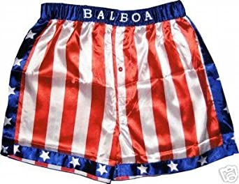 Buy Rocky Balboa Mens Apollo Movie Boxing American Flag Shorts by Rocky