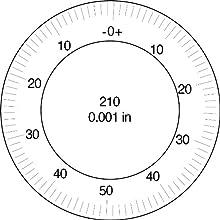 "Brown & Sharpe 14.83018 Dial Indicator, 4.0-48 Thread, 0.374"" Stem Dia., Central Lug Back, White Dial, 0-50-0 Reading, 2.25"" Dial Dia., 0.35"" Range, 0.001"" Graduation, +/-0.001"" Accuracy"