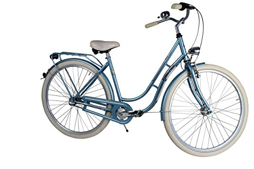 Fischer Damen Fahrrad Retro 3-Gang Nexus FR1516, Blau Metallic, 28, 19549