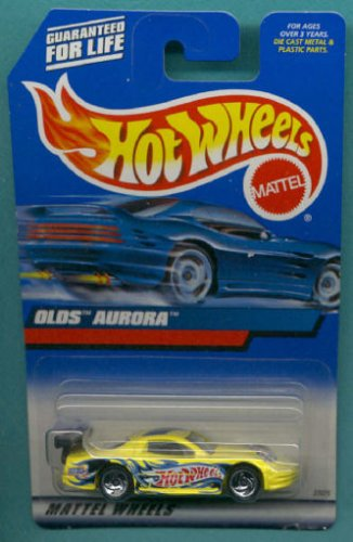 Mattel Hot Wheels 2000 1:64 Scale Yellow Oldsmobile Aurora Die Cast Car Collector #108