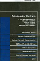 Selections for Contracts: Uniform Commercial Code, Restatement Second, 2010