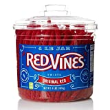 Red Vines Red Original Licorice Twists (4 Pound Jar)
