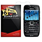 Klear Cut [6 Pack] Screen Protector for Nokia E71x - Lifetime Replacement Warranty - Anti-Bubble & Anti-Fingerprint High Definition (HD) Clear Premium PET Cover - Retail Packaging