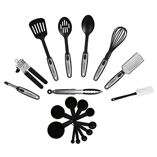 NexGadget Premium Kitchen Utensils 19 Pieces Kitchen Utensils Sets Stainless Steel And Nylon Cooking Tools Spoons, Turners, Tongs, Whisk, Can Opener, Peeler, Scraper And More (Can Cooking compare prices)