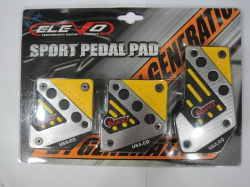 Elevo - Jet Yellow Racing Pedal Covers Manual , Pedal Set in Automotive