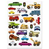 Cars, Trucks, Emergency And Construction Vehicles ~ Set Of 25 Stickers (1-1)
