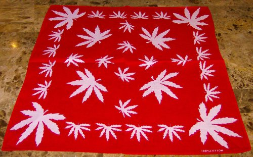 Sale alerts for EVERYTHING ELSE MARIJUANA HEMP LEAF LOGO 420 WEED BANDANA BRAND NEW - Covvet