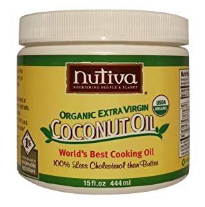 Nutiva Organic Extra Virgin Coconut Oil (15 Ounce (Pack of 4 ORGANIC)) from Nutiva