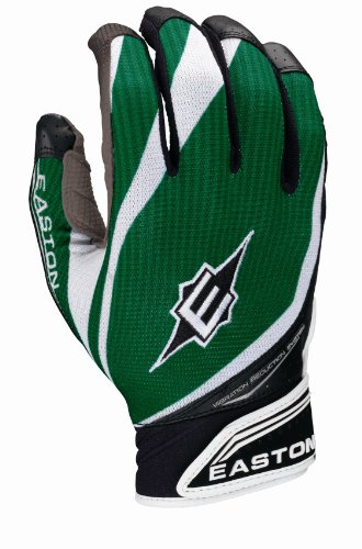 Easton VRS Pro IV Batting Gloves, Grey/Dark Green, Large