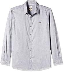 Wrangler Men's Casual Shirt (8907222643416_W14814945485_Large_Frost Grey)