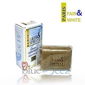 Fair and White Original Cosmétique pour Peau Colorée Savon Gommant 200 g