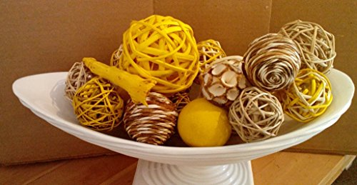 Jodhpuri Inc Decorative Spheres Yellow Rattan Vase Filler Shopswell Custom Rattan Decorative Balls