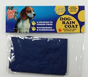 Dog Raincoat Red or Blue Puppy Doggy Rain Coat Jacket Small Medium Large