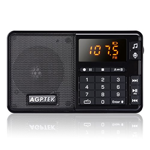 agptek r08 tragbares radio fm mit lautsprecher. Black Bedroom Furniture Sets. Home Design Ideas