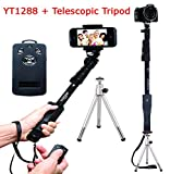 Everything Imported Yunteng YT-1288 Selfie Stick With Telescopic Tripod Expendable Camera Shooting Handheld Monopod Tripod Mount Holder for Iphone 6plus 6 5s 5c 5 4s 4 Ipod Etc. (Model YT-1288)