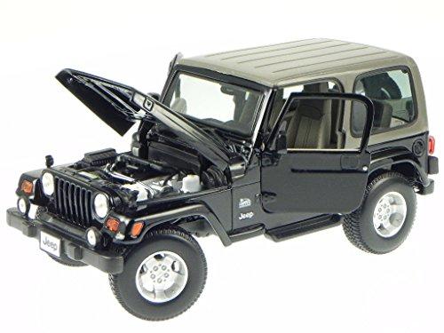 Jeep-Wrangler-Sahara-schwarz-Modellauto-31662-Maisto-118