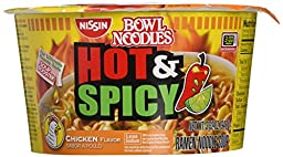 Nissin Hot & Spicy Chicken Flavor Bowl Noodles (18 Pack)
