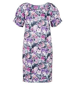 Futhure Women's Floral Print Tunic Dress Purple XXX-Large