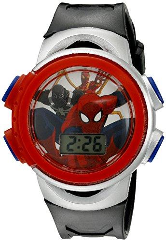 Marvel Spider Man Boy's Quartz Black Casual Watch (Model: SPMKD740CT)
