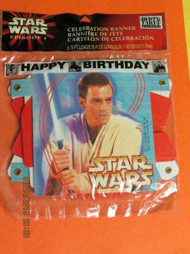 Star Wars Episode I Happy Birthday Celebration Banner